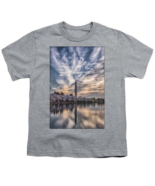 Washington Blossom Sunrise Youth T-Shirt by Erika Fawcett