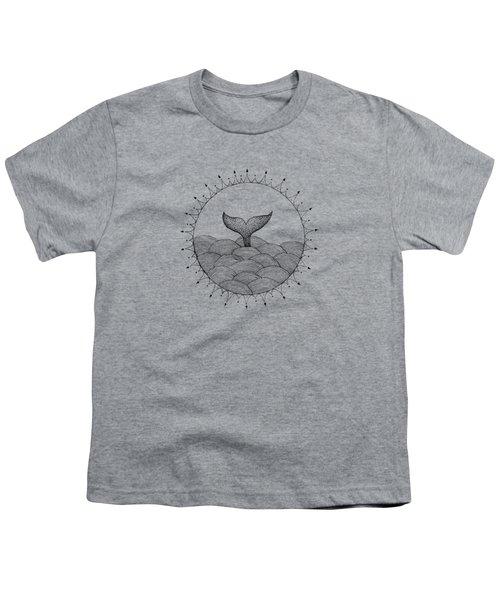 Whale In Waves Youth T-Shirt by Konstantin Sevostyanov