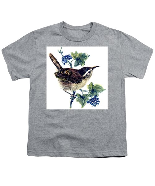 Wren In The Ivy Youth T-Shirt by Nell Hill