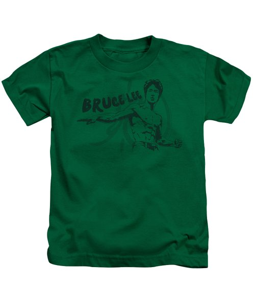Bruce Lee - Brush Lee Kids T-Shirt by Brand A