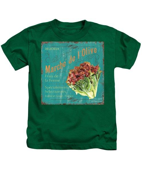 French Market Sign 3 Kids T-Shirt by Debbie DeWitt