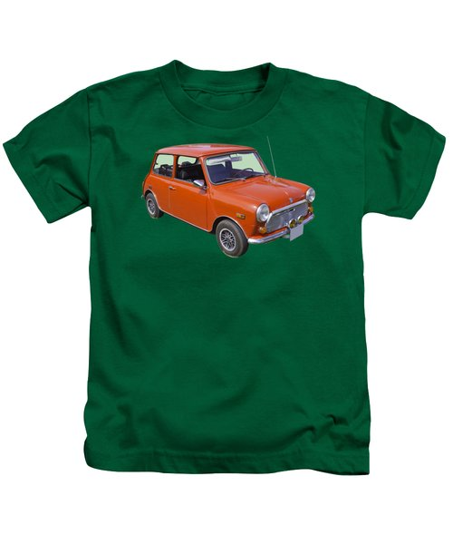 Red Mini Cooper Kids T-Shirt by Keith Webber Jr