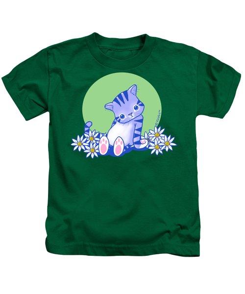Yittle Kitty Kids T-Shirt by Kim Niles