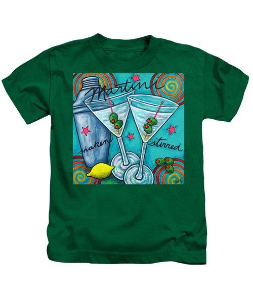 Retro Martini Kids T-Shirt by Lisa  Lorenz