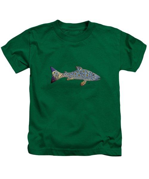 Sea Trout Kids T-Shirt by Mikael Jenei