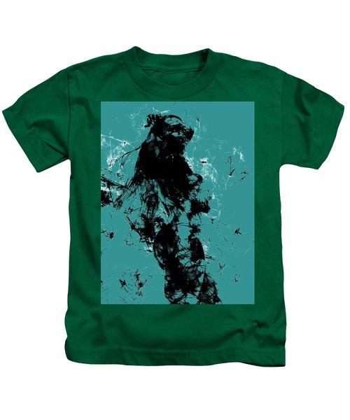 Venus Williams 4f Kids T-Shirt by Brian Reaves