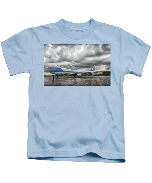 Air Force One Kids T-Shirt by Mountain Dreams