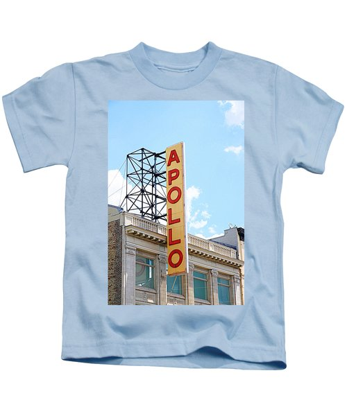 Apollo Theater Sign Kids T-Shirt by Valentino Visentini