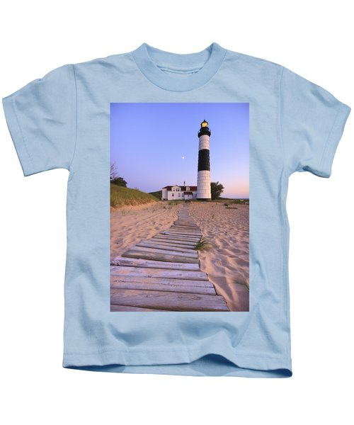 Big Sable Point Lighthouse Kids T-Shirt by Adam Romanowicz