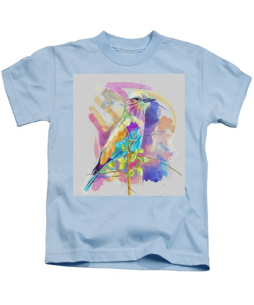 Bird On A Twig Kids T-Shirt by Catf