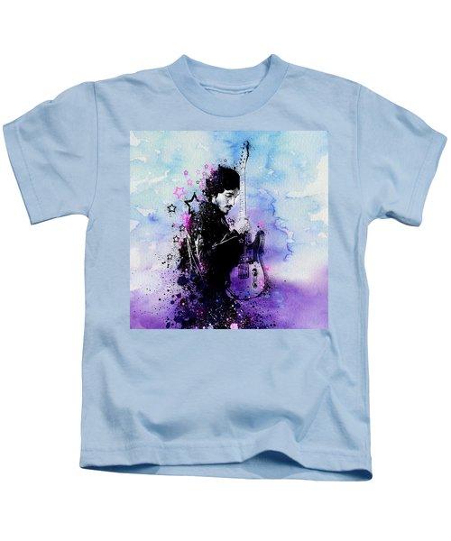 Bruce Springsteen Splats And Guitar 2 Kids T-Shirt by Bekim Art