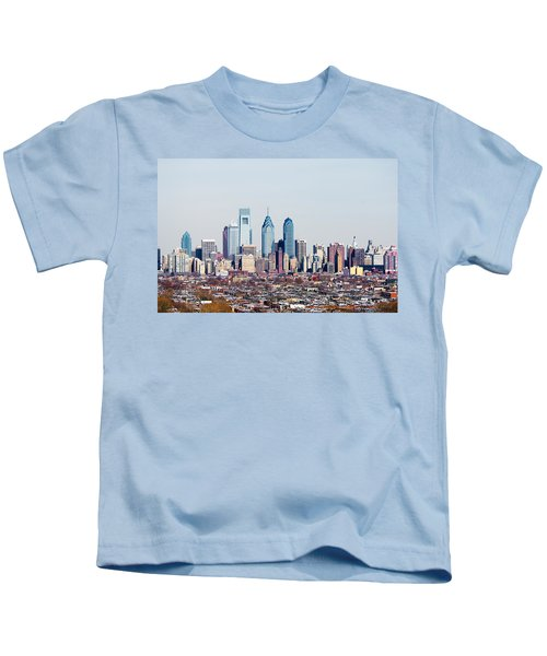 Buildings In A City, Comcast Center Kids T-Shirt by Panoramic Images