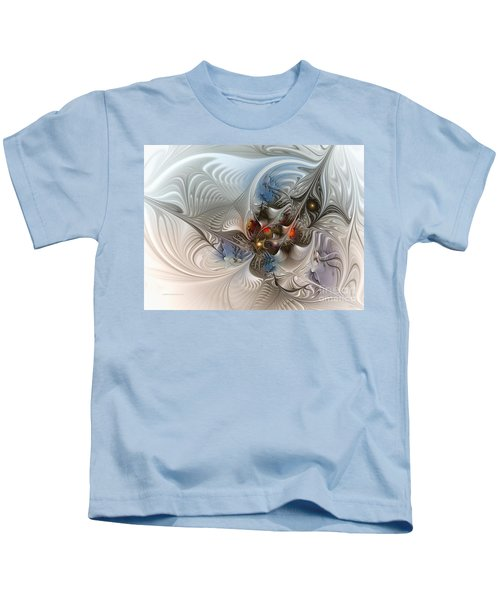 Cloud Cuckoo Land-fractal Art Kids T-Shirt by Karin Kuhlmann