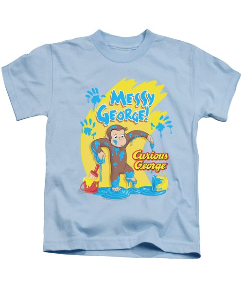 Curious George - Messy George Kids T-Shirt by Brand A