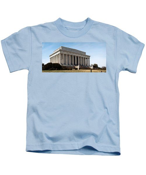Facade Of The Lincoln Memorial, The Kids T-Shirt by Panoramic Images