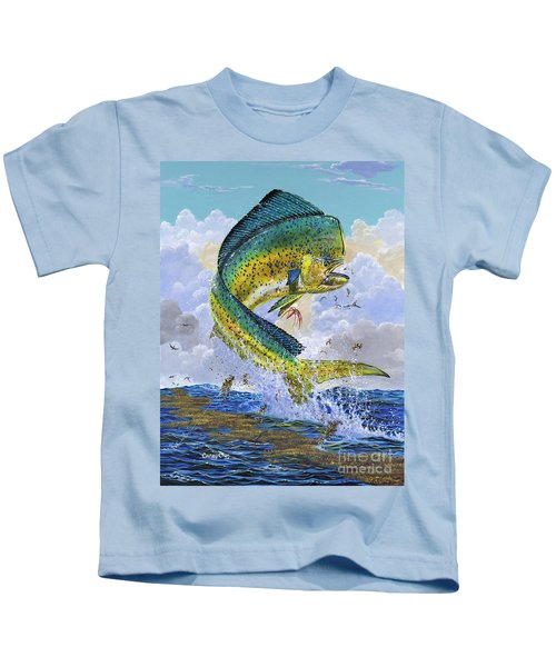 Mahi Hookup Off0020 Kids T-Shirt by Carey Chen
