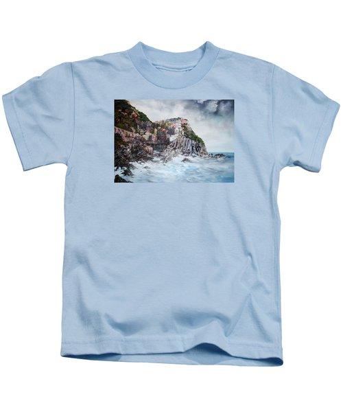 Manarola Italy Kids T-Shirt by Jean Walker