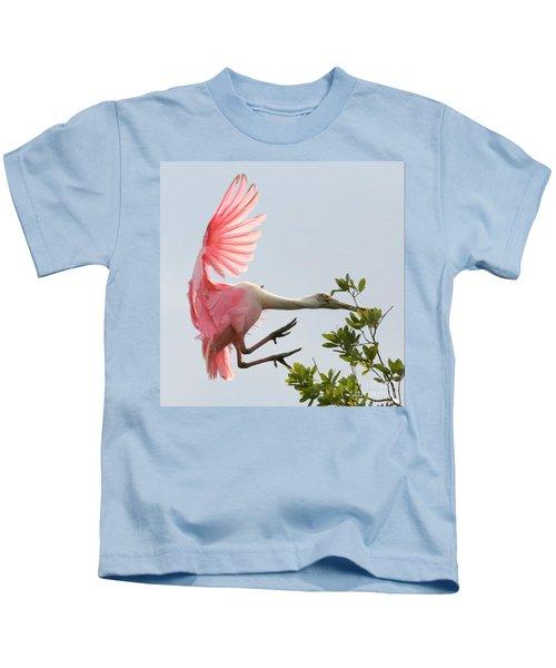 Rough Landing Kids T-Shirt by Carol Groenen
