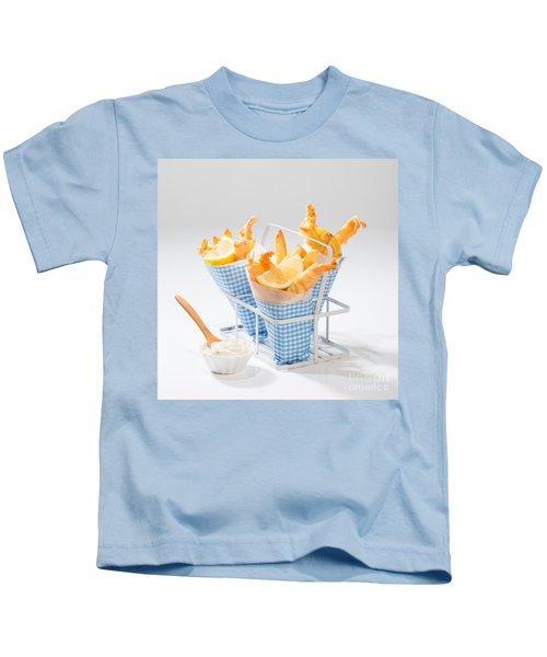 Tempura Prawns Kids T-Shirt by Amanda Elwell