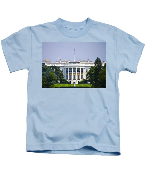 The Whitehouse - Washington Dc Kids T-Shirt by Bill Cannon