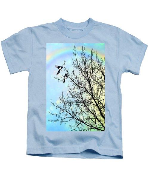 Two For Joy Kids T-Shirt by John Edwards