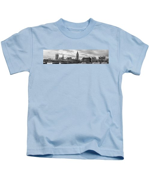 Westminster Panorama Kids T-Shirt by Heather Applegate