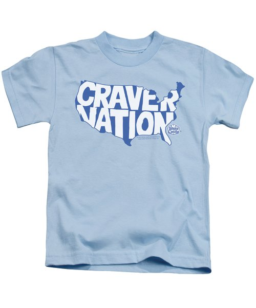 White Castle - Craver Nation Kids T-Shirt by Brand A