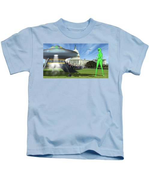 Wip - Washington Field Trip Kids T-Shirt by Mike McGlothlen