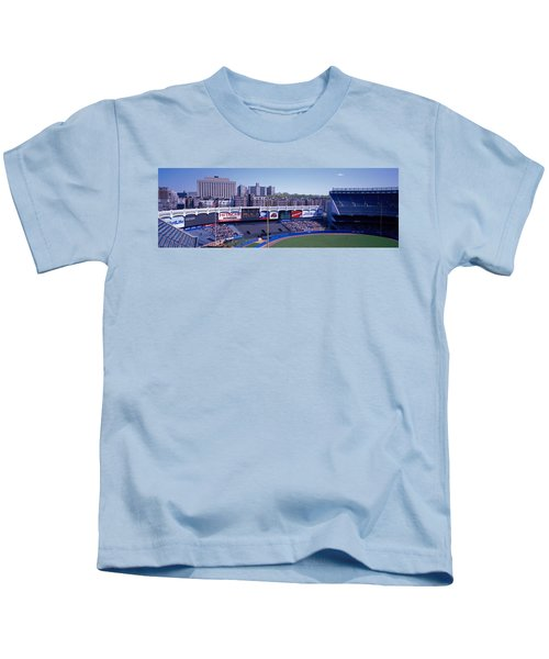 Yankee Stadium Ny Usa Kids T-Shirt by Panoramic Images
