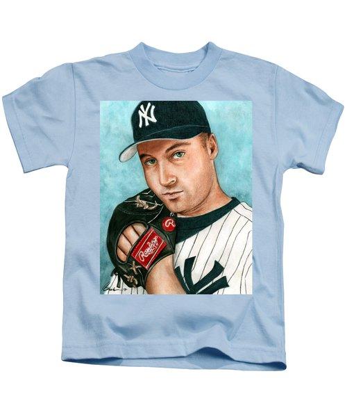 Derek Jeter  Kids T-Shirt by Bruce Lennon