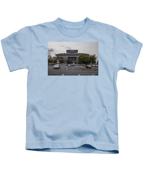 Beaver Stadium Penn State  Kids T-Shirt by John McGraw