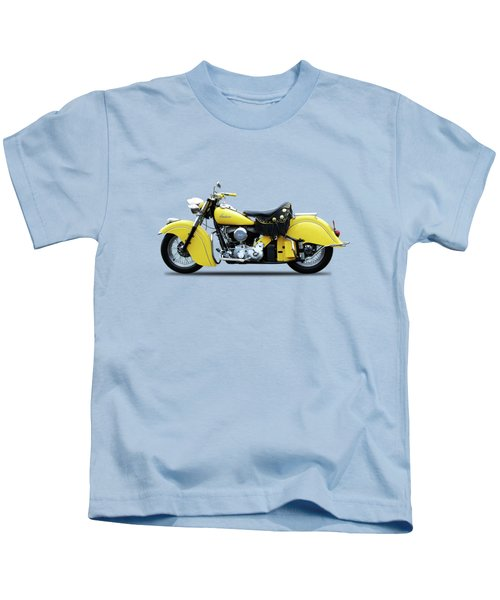 Indian Chief 1951 Kids T-Shirt by Mark Rogan