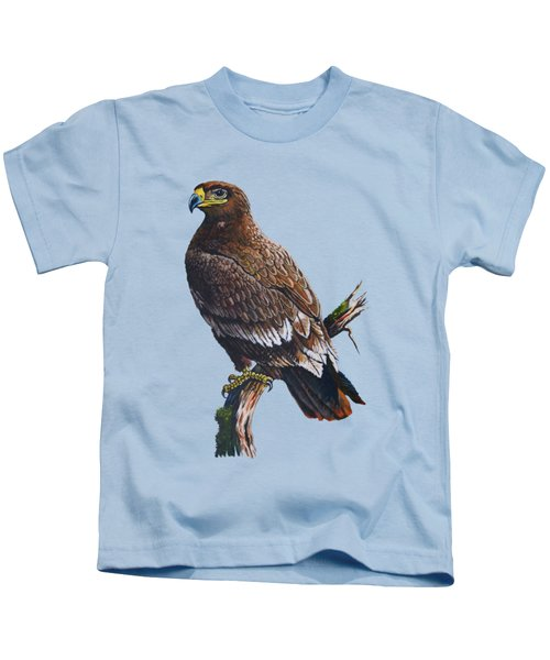 Steppe-eagle Kids T-Shirt by Anthony Mwangi