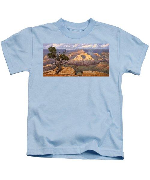 Zoroaster Temple From Yaki Point Kids T-Shirt by Paul Krapf