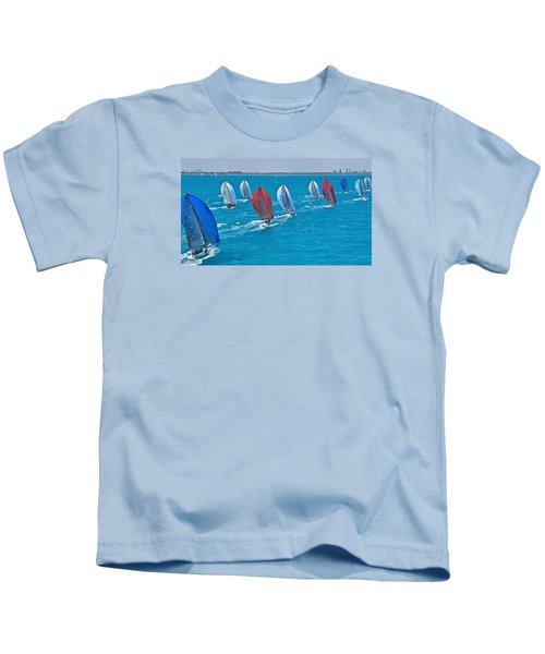 Miami Skyline Regatta Kids T-Shirt by Steven Lapkin