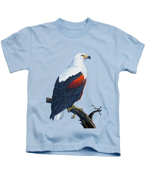 African Fish Eagle Kids T-Shirt by Anthony Mwangi