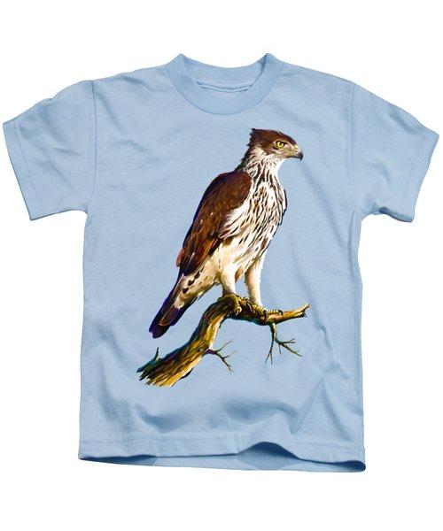 African Hawk Eagle Kids T-Shirt by Anthony Mwangi