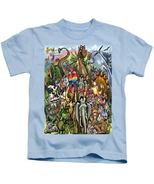 All Creatures Great Small Kids T-Shirt by Kevin Middleton