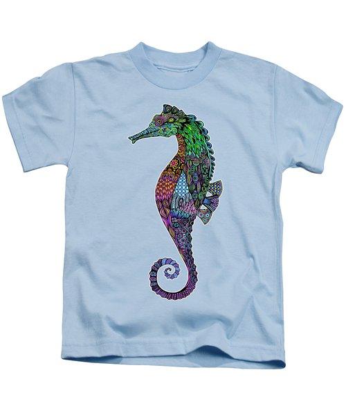 Electric Gentleman Seahorse Kids T-Shirt by Tammy Wetzel