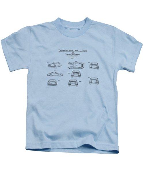 Porsche 911 Patent Kids T-Shirt by Mark Rogan