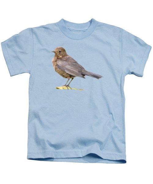 Young Blackbird  Kids T-Shirt by Bamalam  Photography