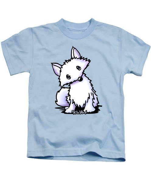 Arctic Fox Kids T-Shirt by Kim Niles
