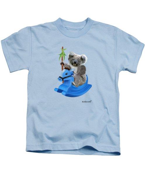 Baby Koala Buckaroo Kids T-Shirt by Glenn Holbrook