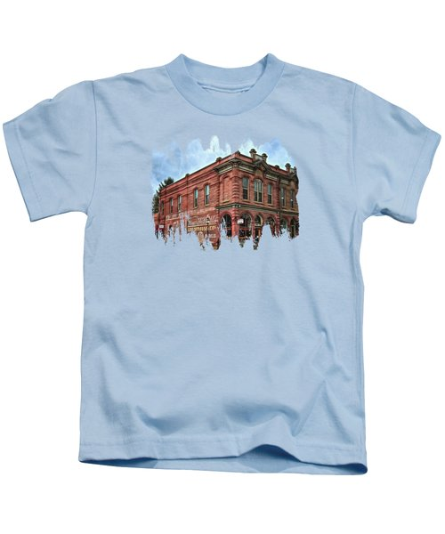 Boomtown Saloon Jacksonville Oregon Kids T-Shirt by Thom Zehrfeld