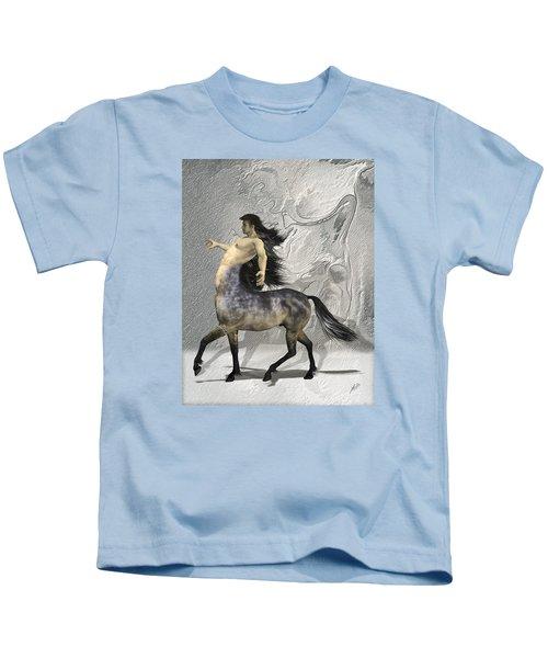 Centaur Warm Tones Kids T-Shirt by Quim Abella