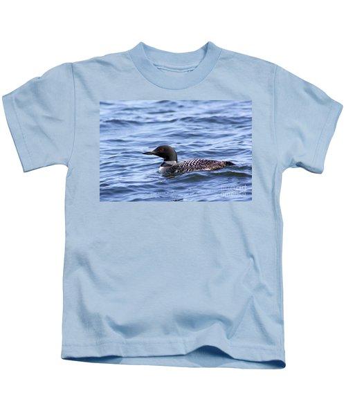 Common Loon Kids T-Shirt by Teresa Zieba