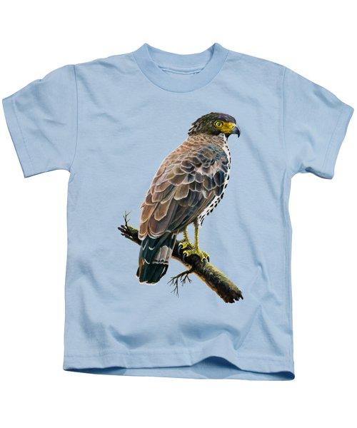 Congo Serpent Eagle Kids T-Shirt by Anthony Mwangi