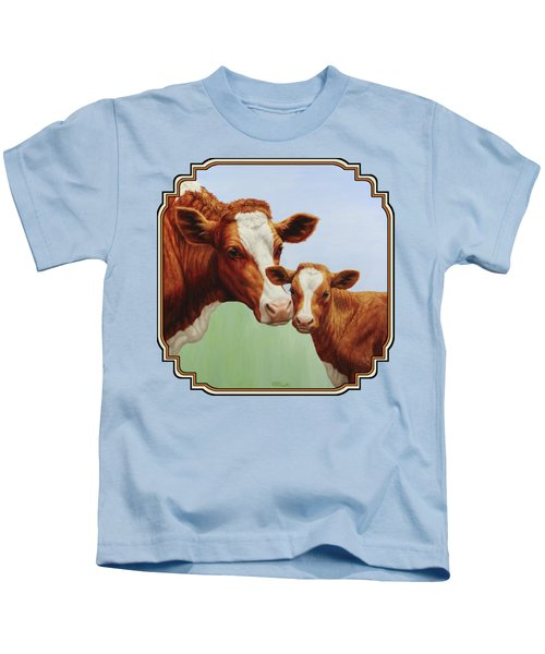 Cream And Sugar Kids T-Shirt by Crista Forest