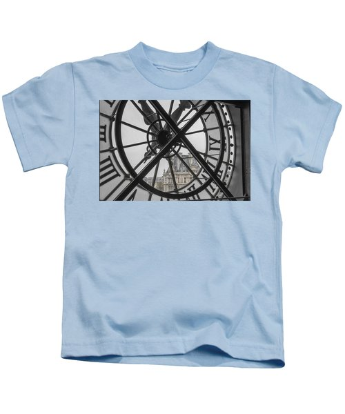 D'orsay Clock Paris Kids T-Shirt by Joan Carroll