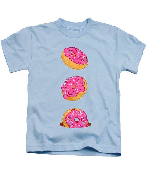 Doughnuts Kids T-Shirt by Evgenia Chuvardina